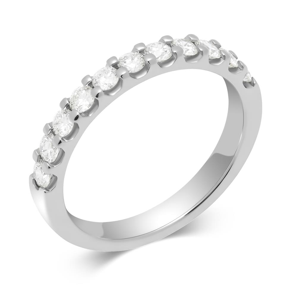 Platinum Round 0.50ct Diamond Claw Ring Thumbnail Image 0