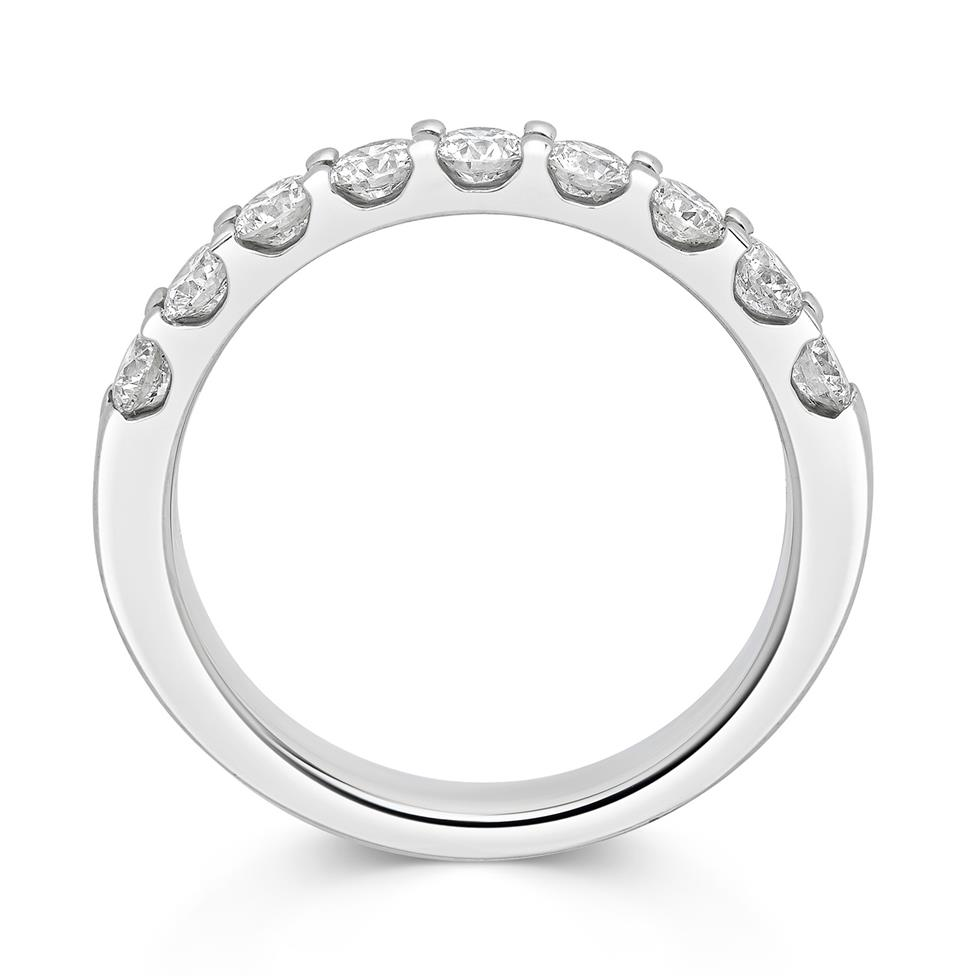 Platinum Diamond Half Eternity Ring 0.75ct Thumbnail Image 1