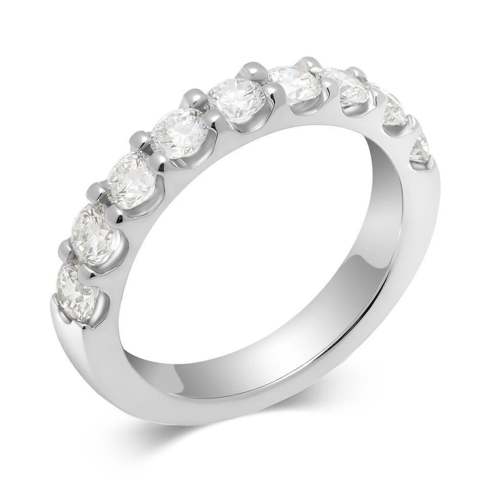 Platinum Diamond Half Eternity Ring 1.00ct Thumbnail Image 0