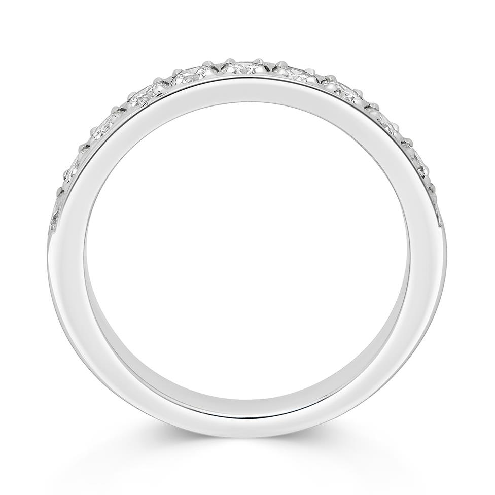 Platinum Round 0.50ct Diamond Grain Set Ring Thumbnail Image 1