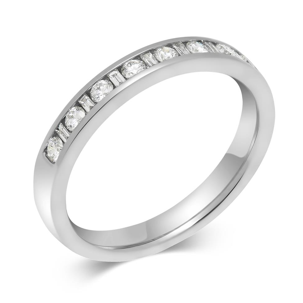 Platinum Baguette Cut 0.25ct Diamond Channel Ring Image 1
