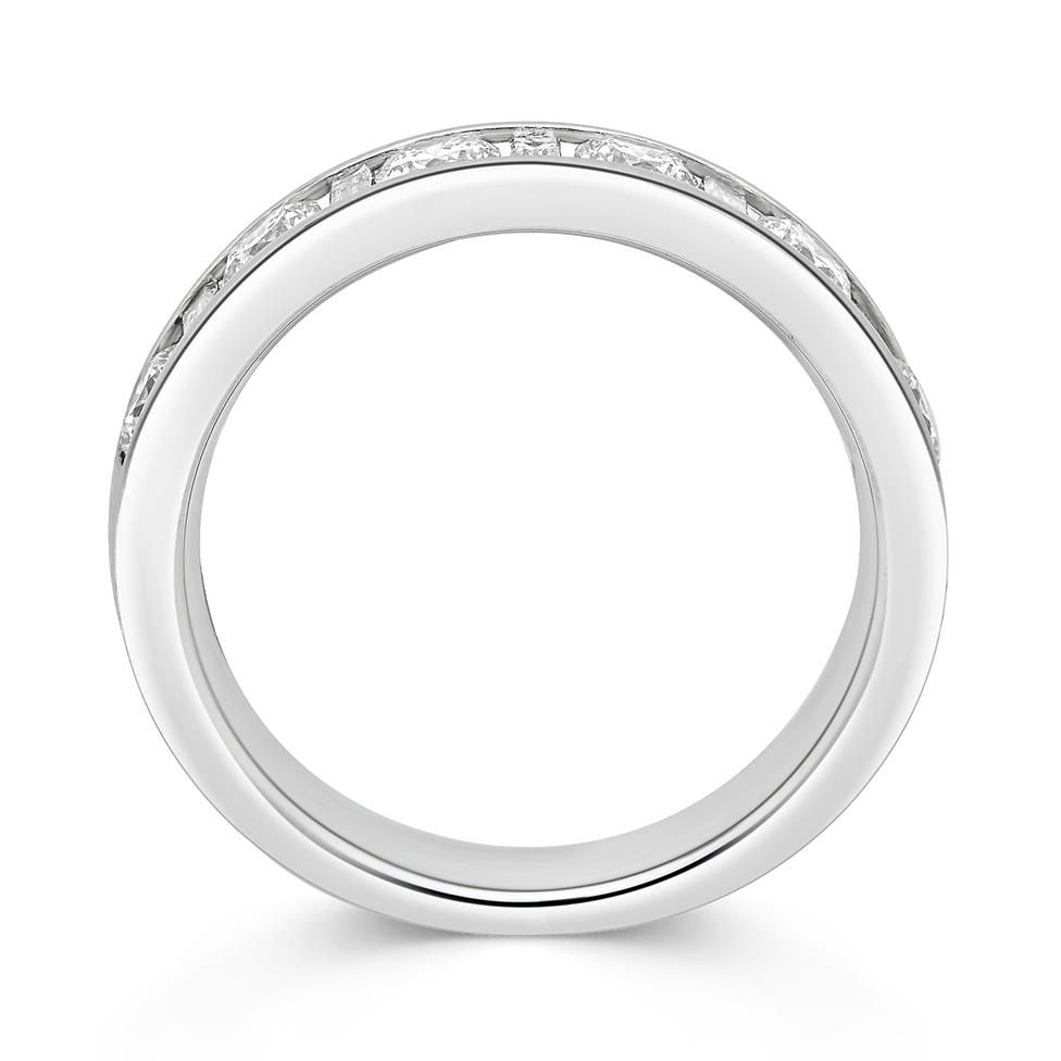 Platinum Alternating Baguette Cut Diamond Half Eternity Ring 1.00ct Thumbnail Image 1