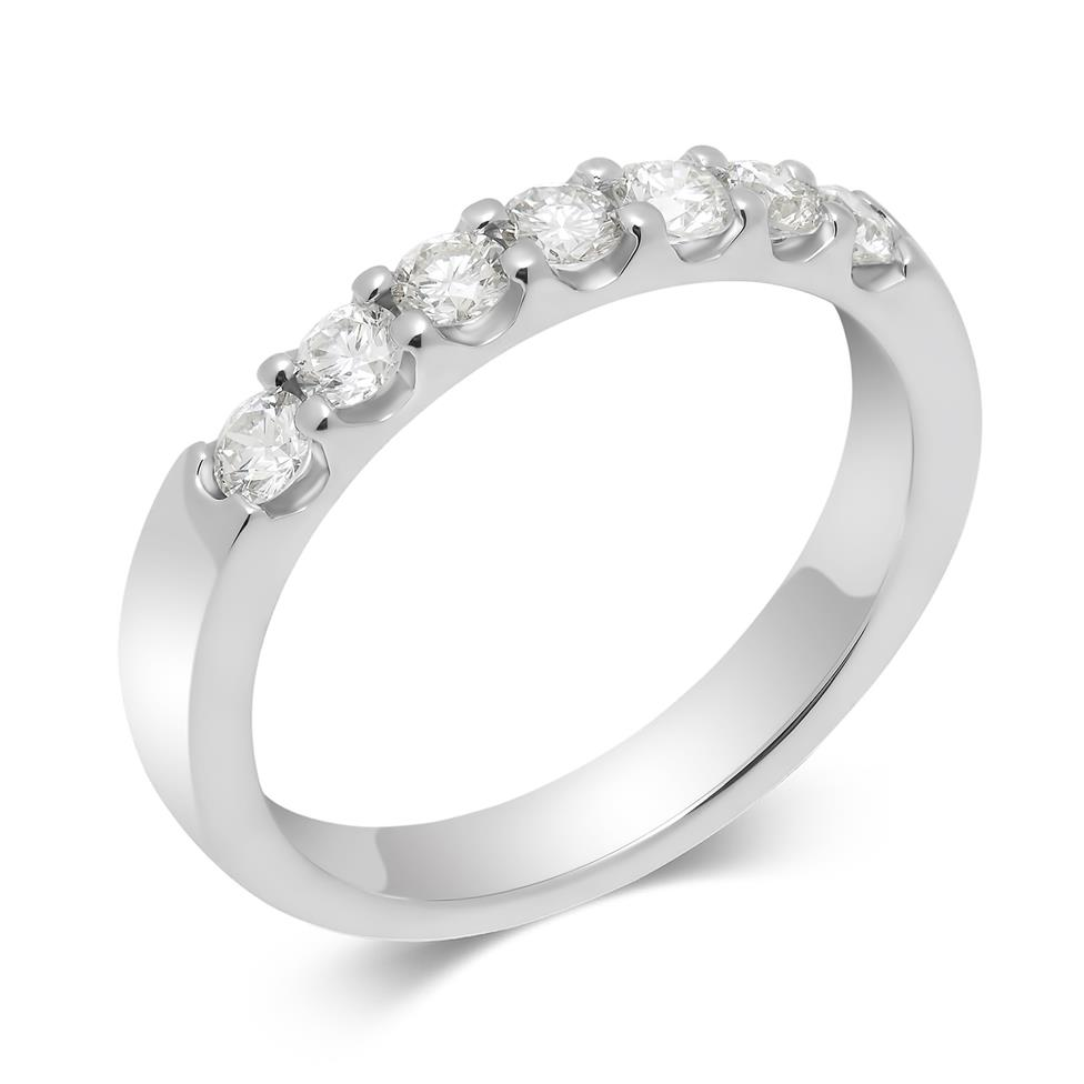 Platinum 0.50ct Diamond Top Third Claw Ring Thumbnail Image 0