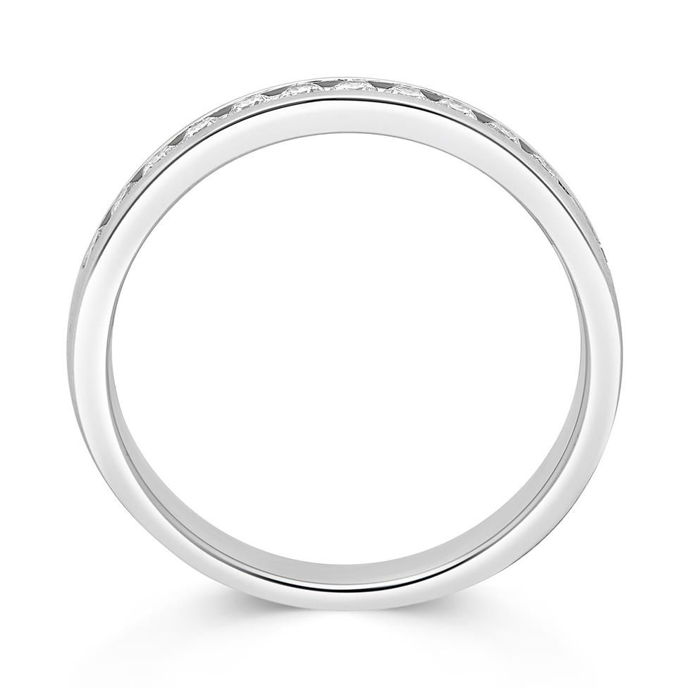Platinum 0.25ct Diamond True Half Channel Ring Thumbnail Image 1