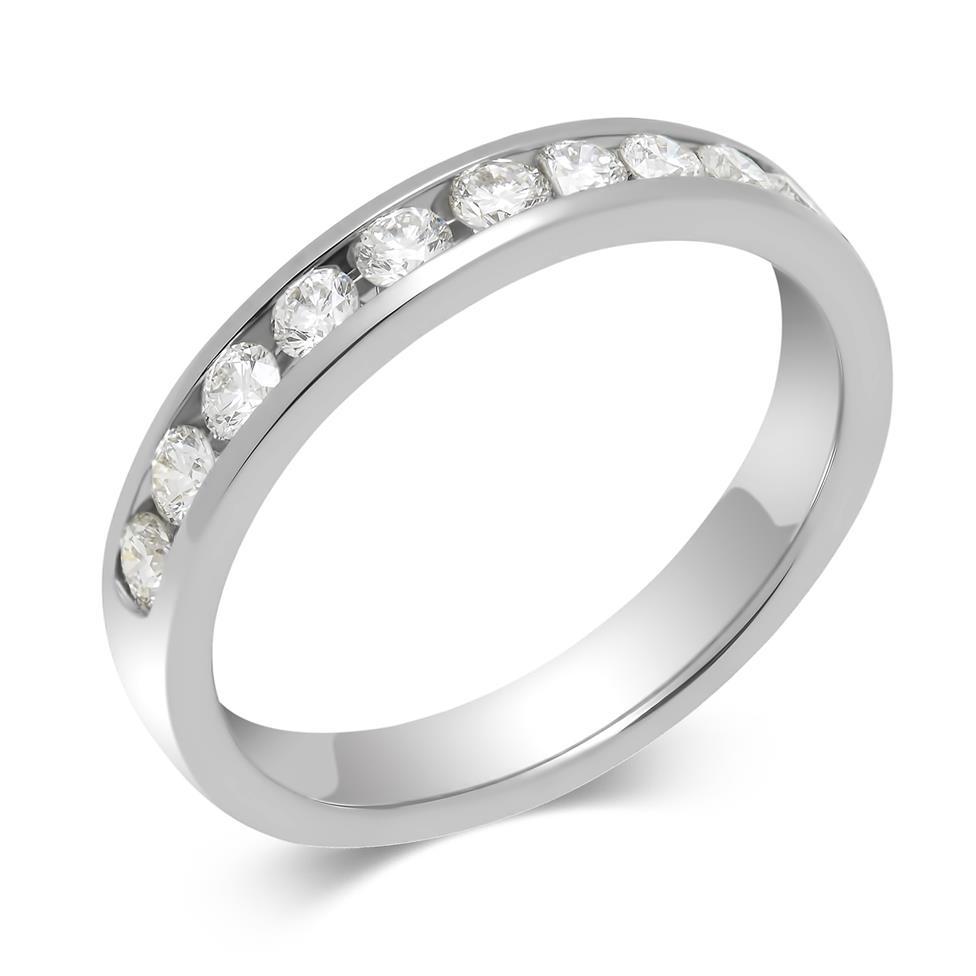 Platinum Diamond Half Eternity Ring 0.50ct Thumbnail Image 0