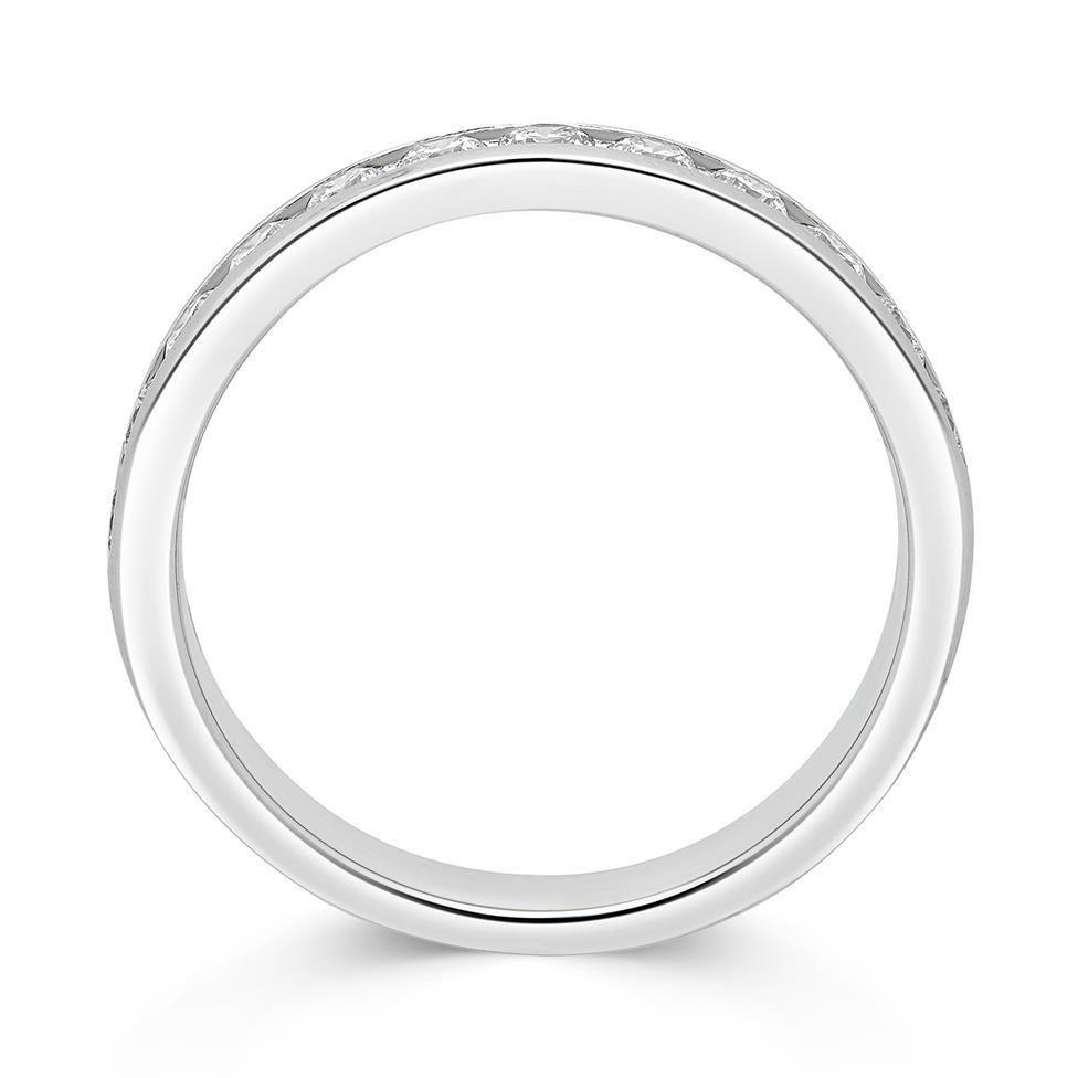 Platinum Diamond Half Eternity Ring 0.50ct Thumbnail Image 1