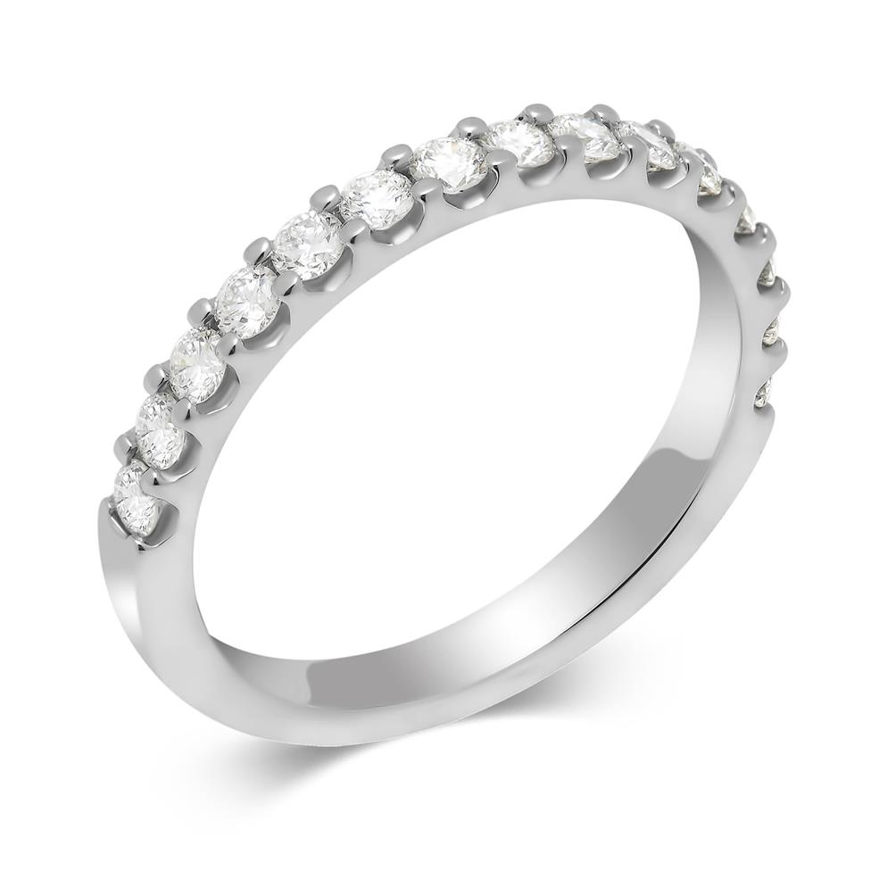 Platinum Diamond Half Eternity Ring 0.50ct Thumbnail Image 0