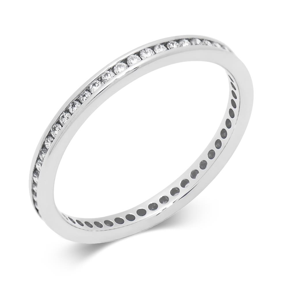 Platinum 0.25ct Full Diamond Channel Ring Thumbnail Image 0