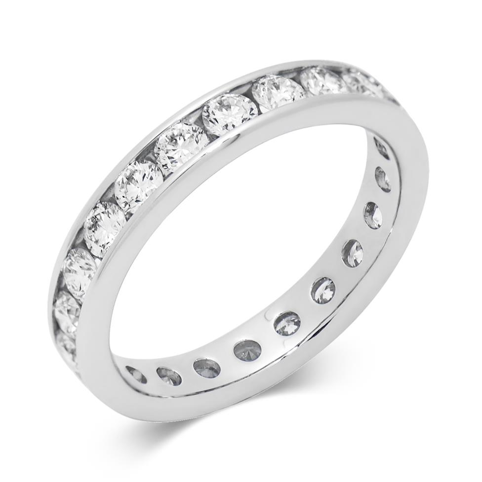 Platinum 1.50ct Full Diamond Channel Ring Thumbnail Image 0