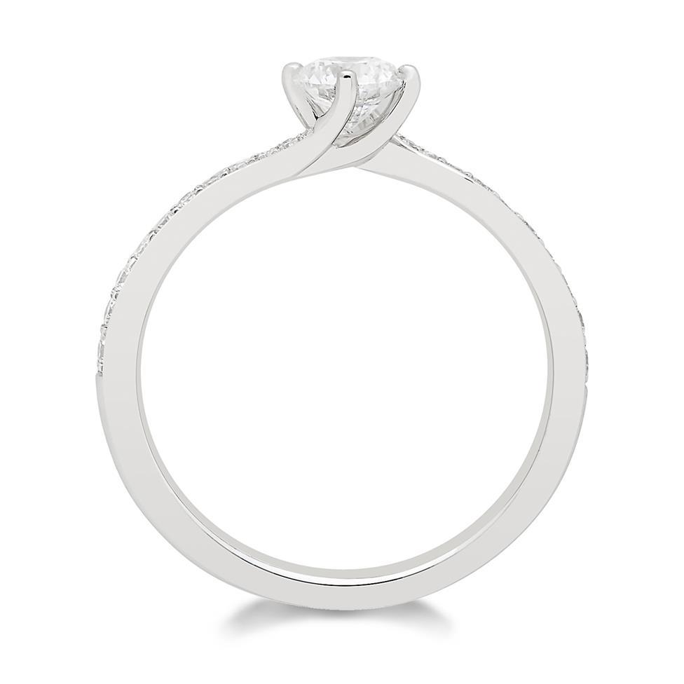 Platinum Twist Design Diamond Solitaire Engagement Ring 0.55ct Thumbnail Image 1