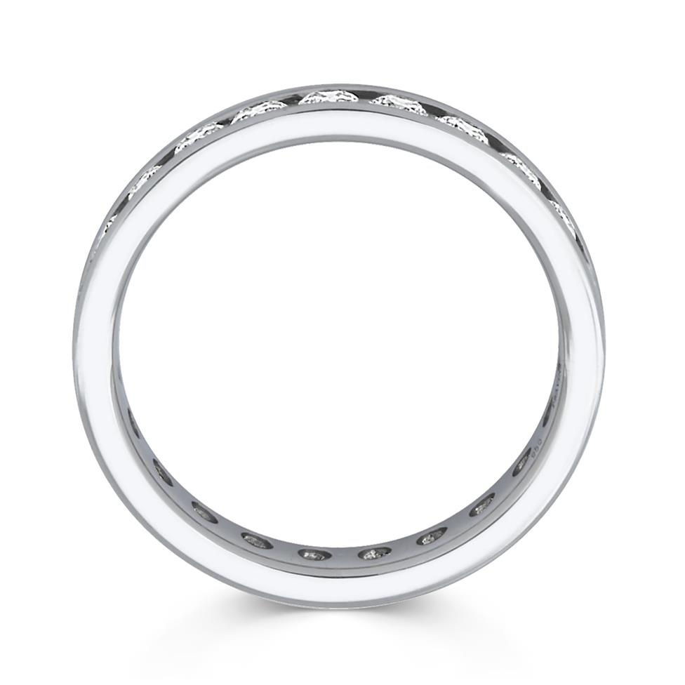 Platinum 1.00ct Full Diamond Channel Ring Thumbnail Image 1