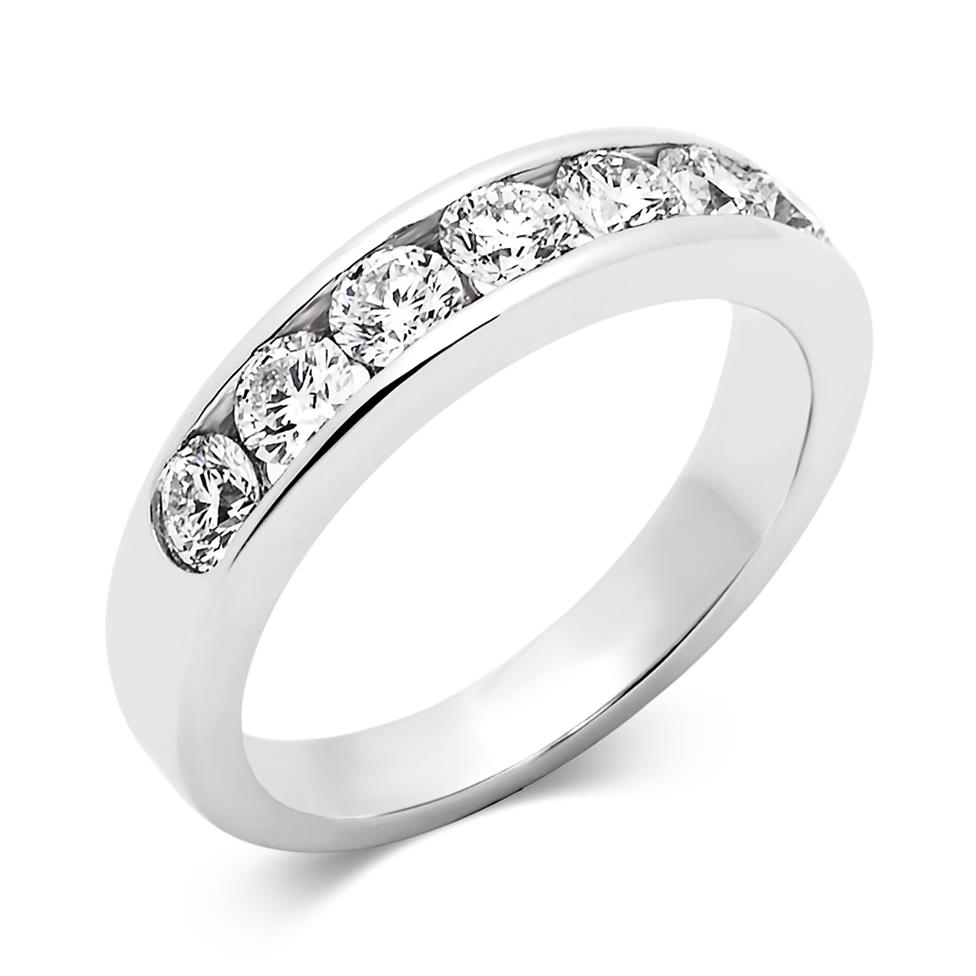 Platinum Diamond Half Eternity Ring 1.00ct Thumbnail Image 0
