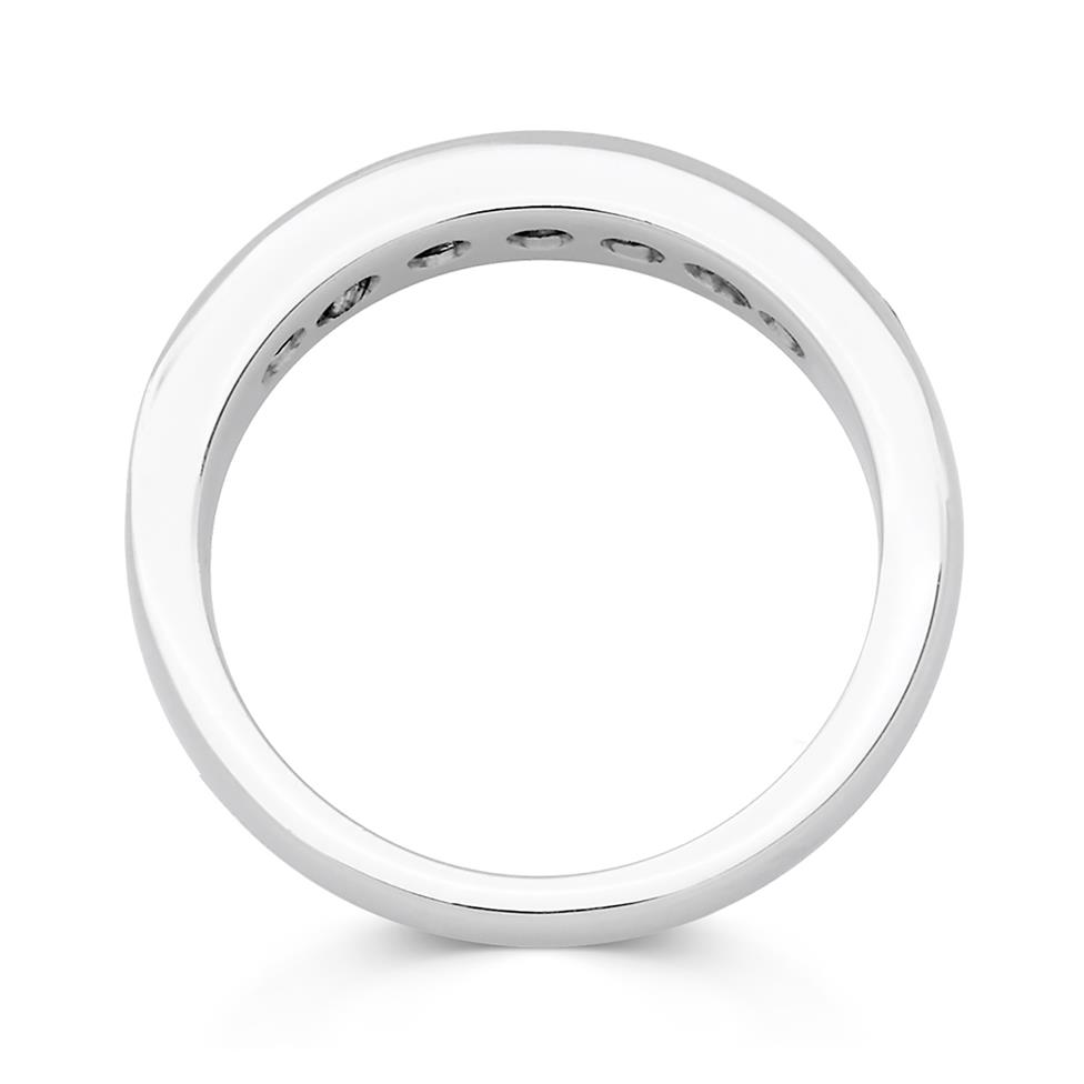 Platinum Diamond Half Eternity Ring 1.00ct Thumbnail Image 1