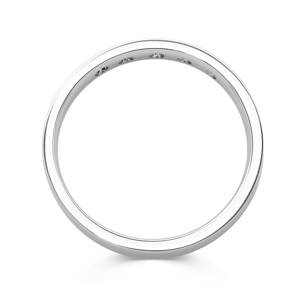 Platinum Princess Cut Diamond Set Wedding Ring 0.10ct Thumbnail Image 1