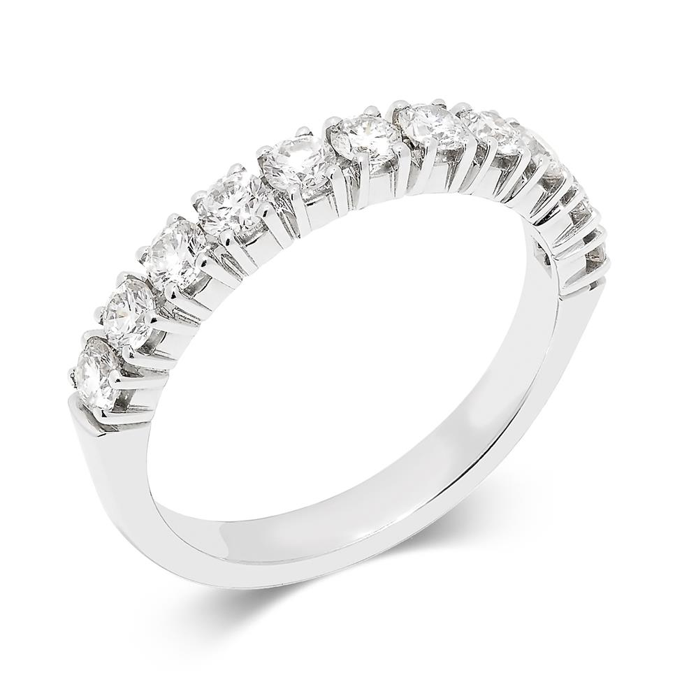 Platinum 0.70ct Diamond Half Eternity Ring Thumbnail Image 0