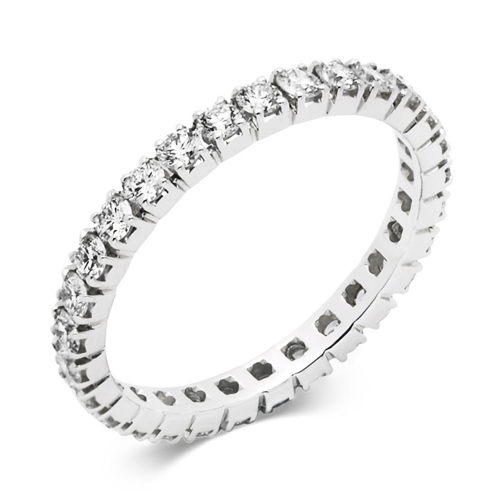 Platinum 0.90ct Diamond Full Channel Eternity Ring Thumbnail Image 0