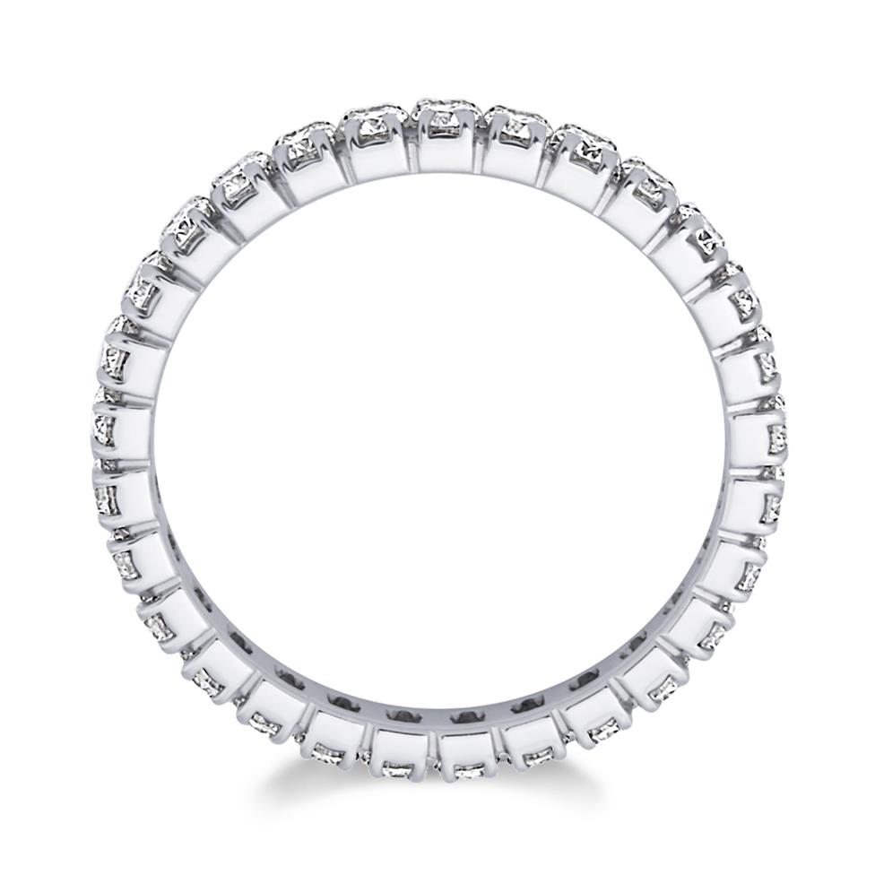 Platinum 0.90ct Diamond Full Channel Eternity Ring Thumbnail Image 1