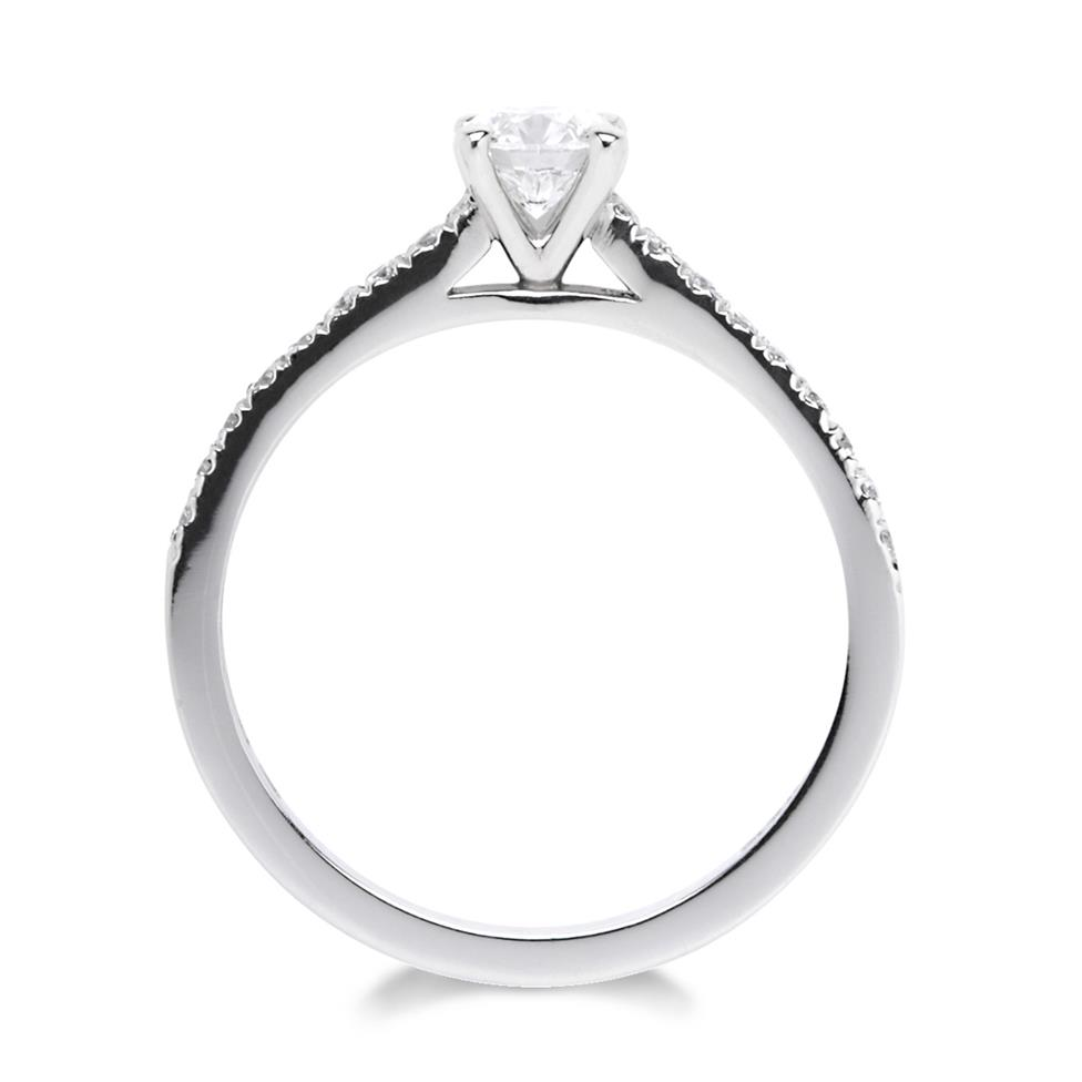 Platinum Classic Channel Shoulder 0.60ct Diamond Solitaire Ring Thumbnail Image 2
