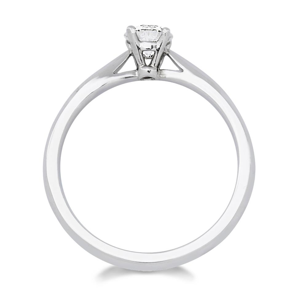 18ct White Gold Classic 0.40ct Diamond Solitaire Ring Thumbnail Image 1