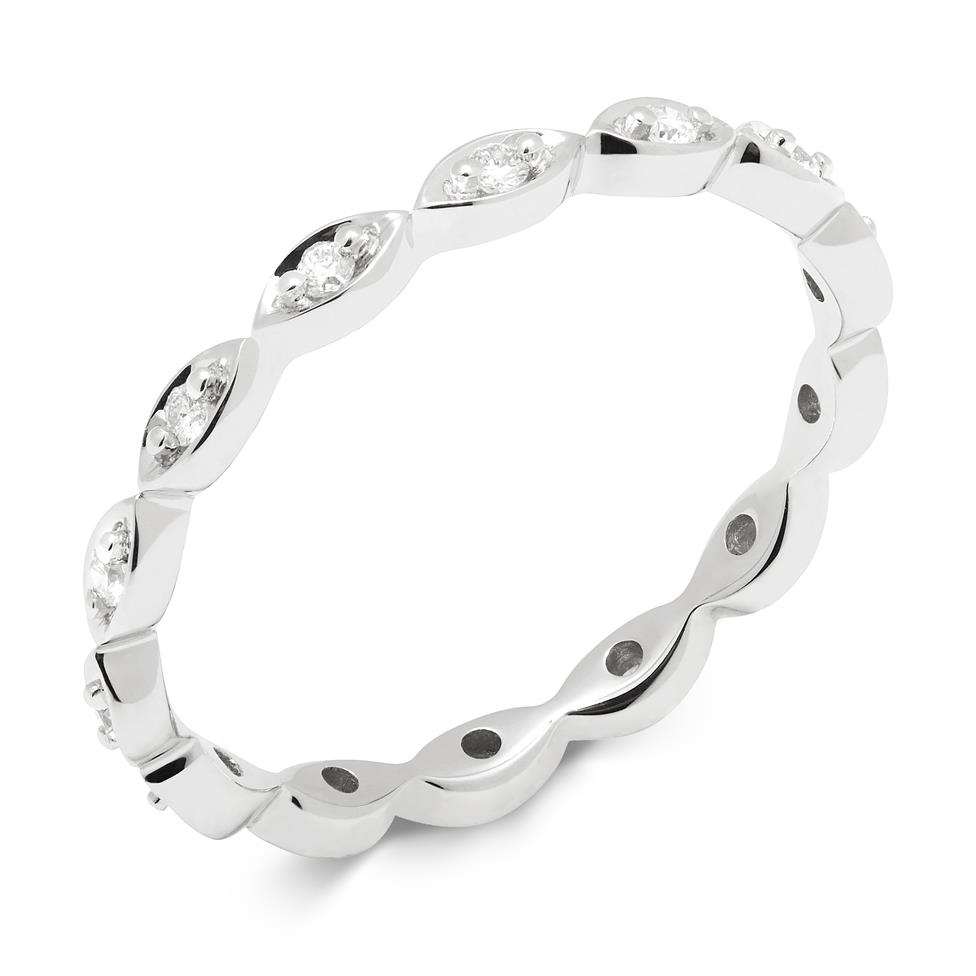 18ct White Gold Diamond Full Eternity Ring 0.14ct Thumbnail Image 0