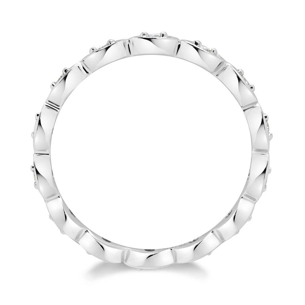18ct White Gold Diamond Full Eternity Ring 0.14ct Thumbnail Image 1