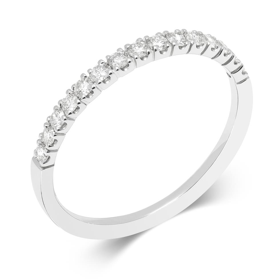 18ct White Gold Diamond Half Eternity Ring 0.25ct Thumbnail Image 0