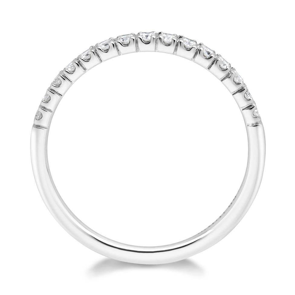 18ct White Gold Diamond Half Eternity Ring 0.25ct Thumbnail Image 2