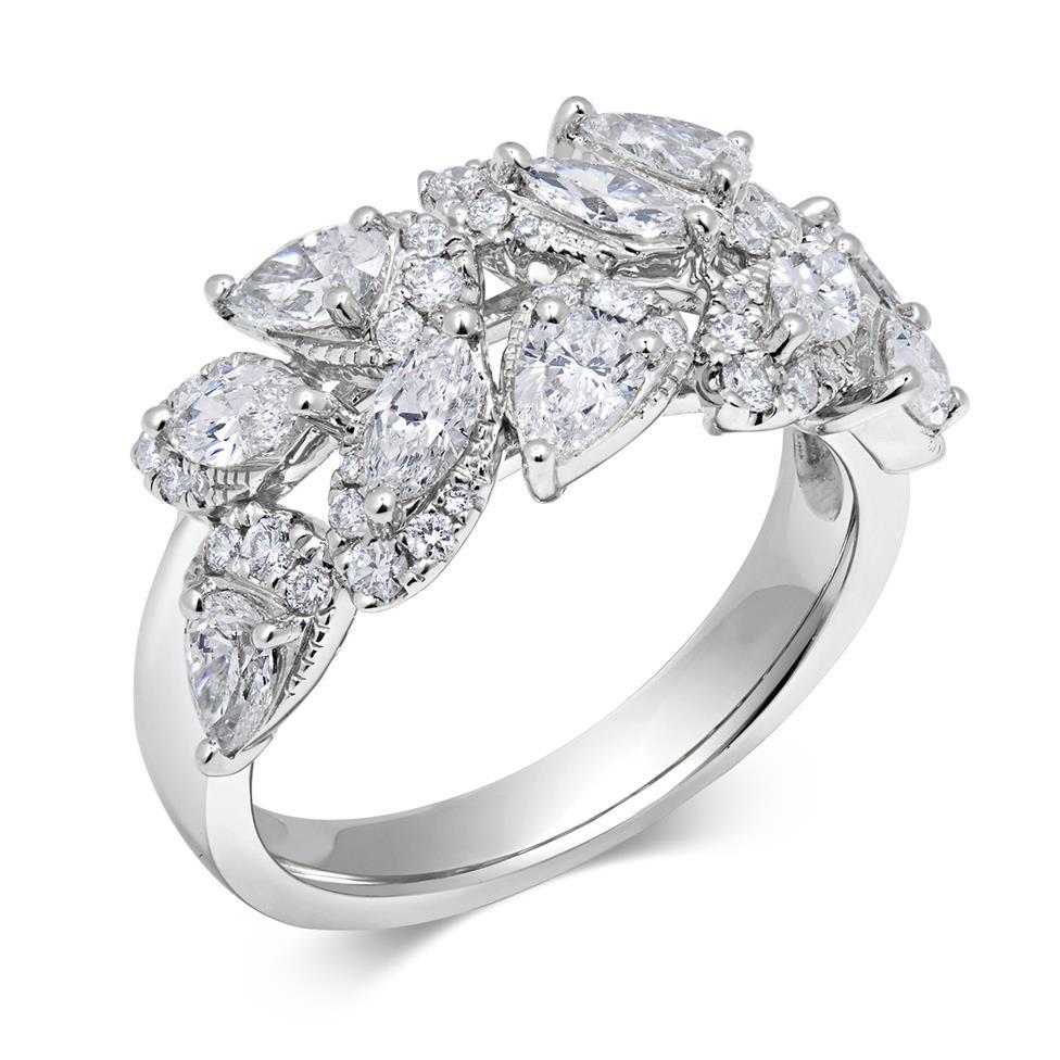 Eden 18ct White Gold Diamond Dress Ring 1.63ct Thumbnail Image 0