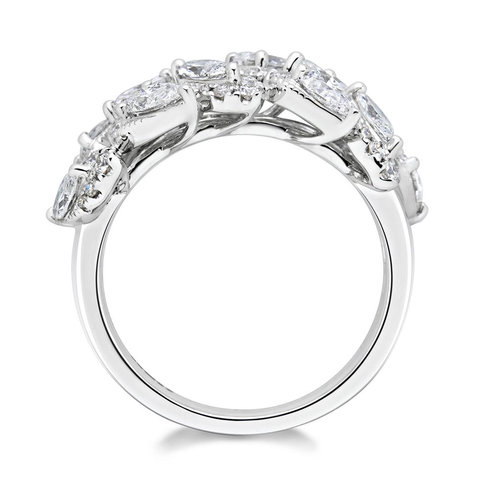 Eden 18ct White Gold Diamond Dress Ring 1.63ct Thumbnail Image 3