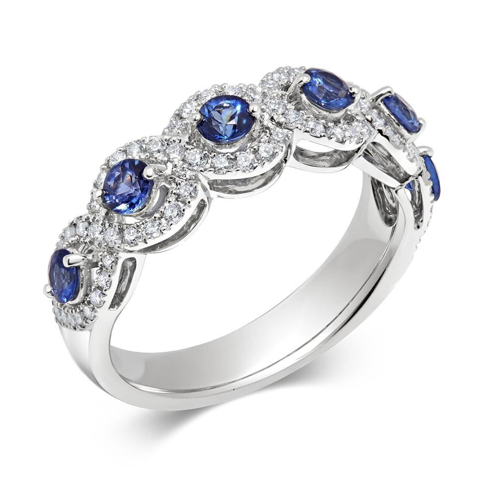 Oriana 18ct White Gold Sapphire and Diamond Dress Ring Thumbnail Image 0