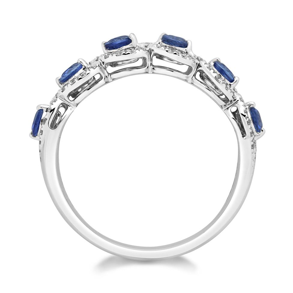 Oriana 18ct White Gold Sapphire and Diamond Dress Ring Thumbnail Image 2