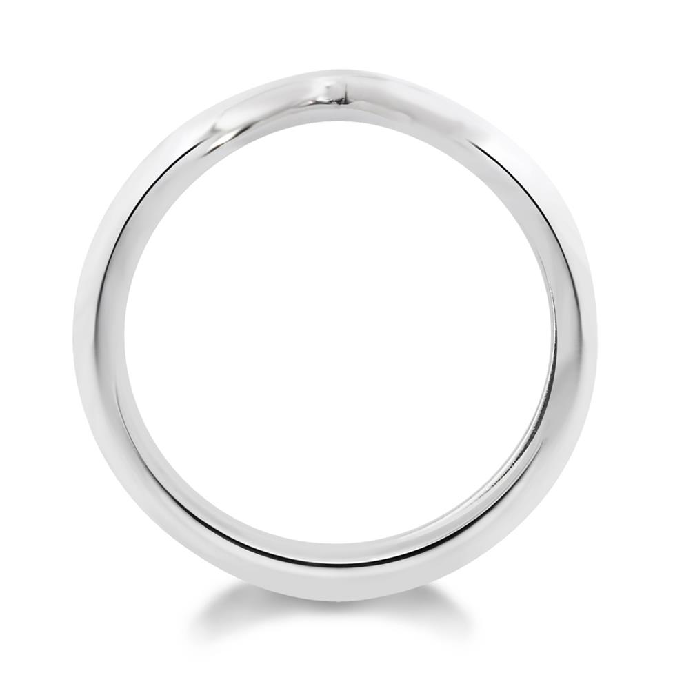 Platinum Classic Shaped Wedding Ring Thumbnail Image 1