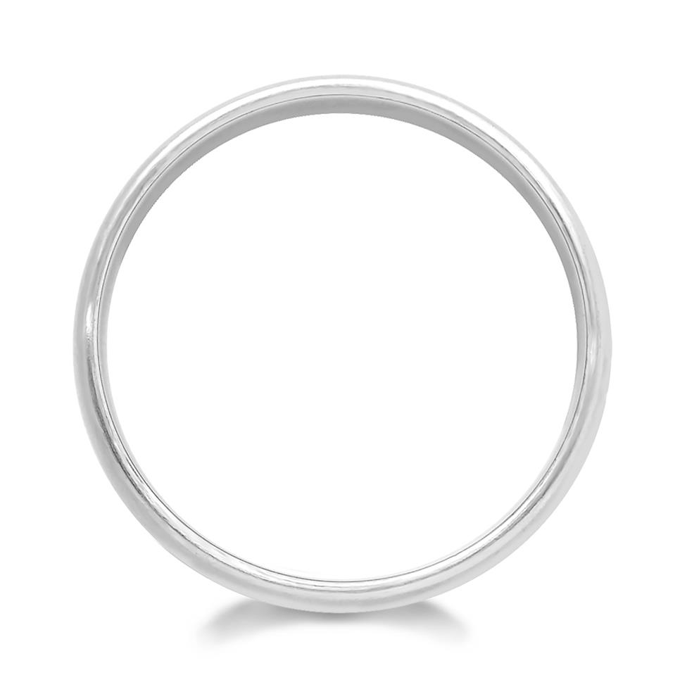 Palladium Groove Detail Wedding Ring Thumbnail Image 1