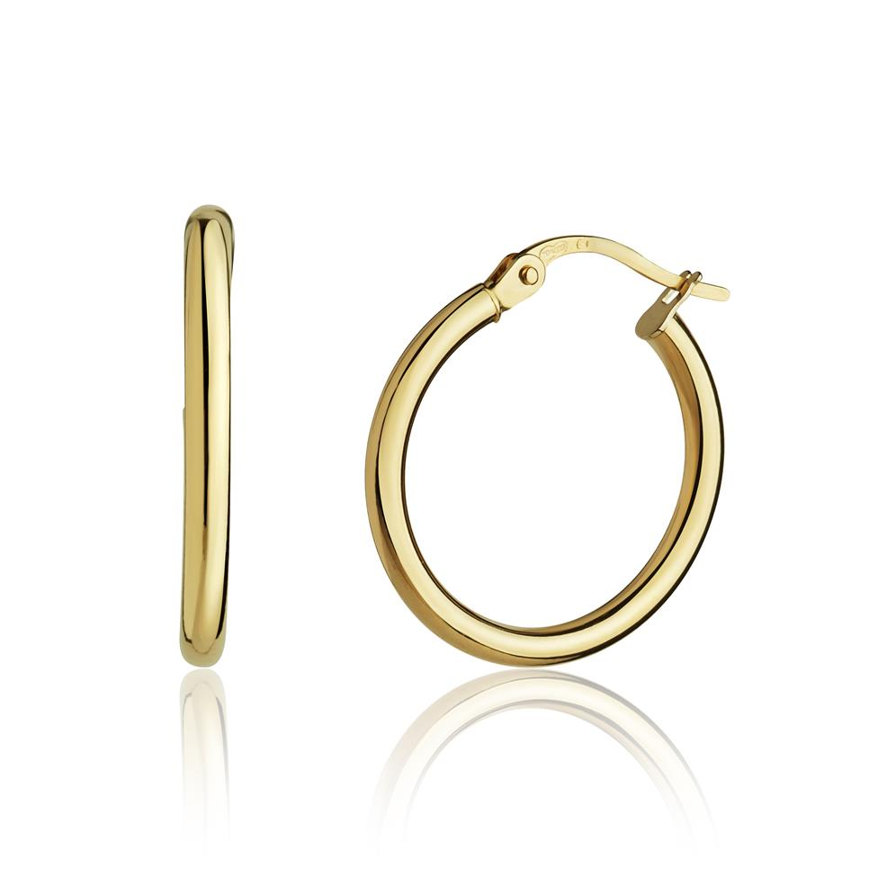 18ct Yellow Gold Extra Small Hoop Earrings Thumbnail Image 0