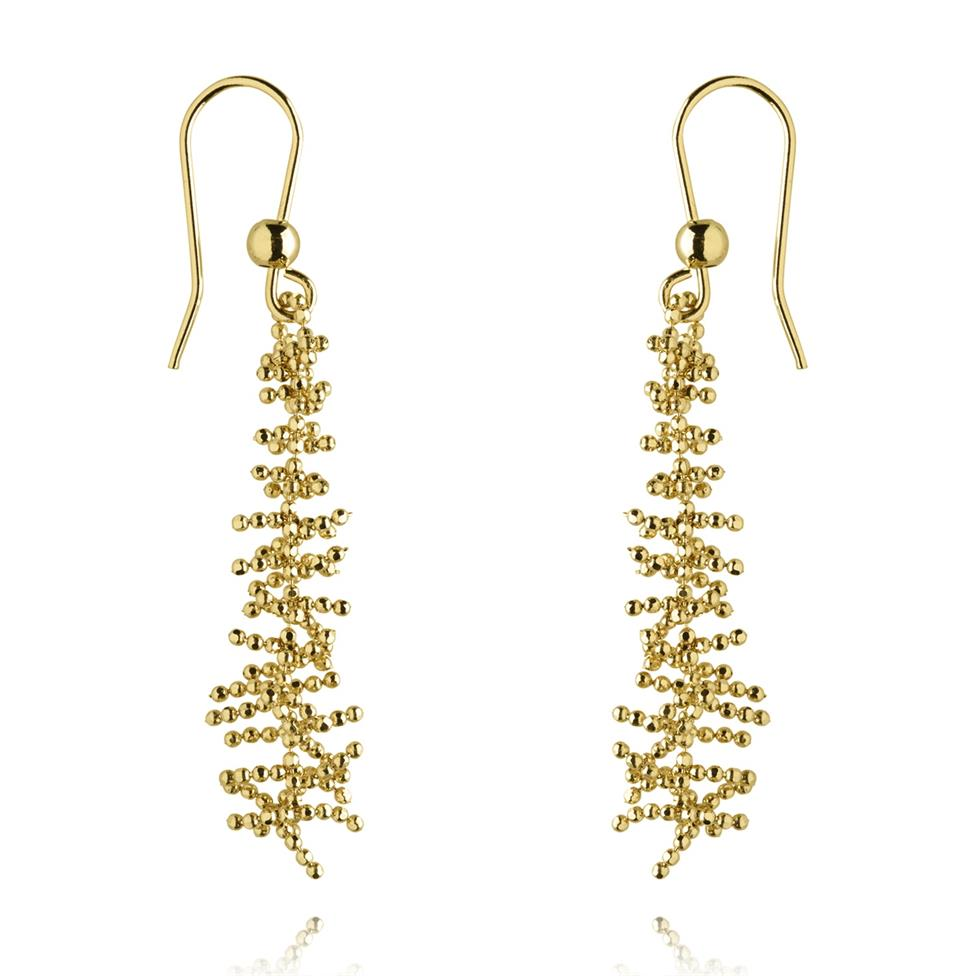 Willow 18ct Yellow Gold Drop Earrings Thumbnail Image 0