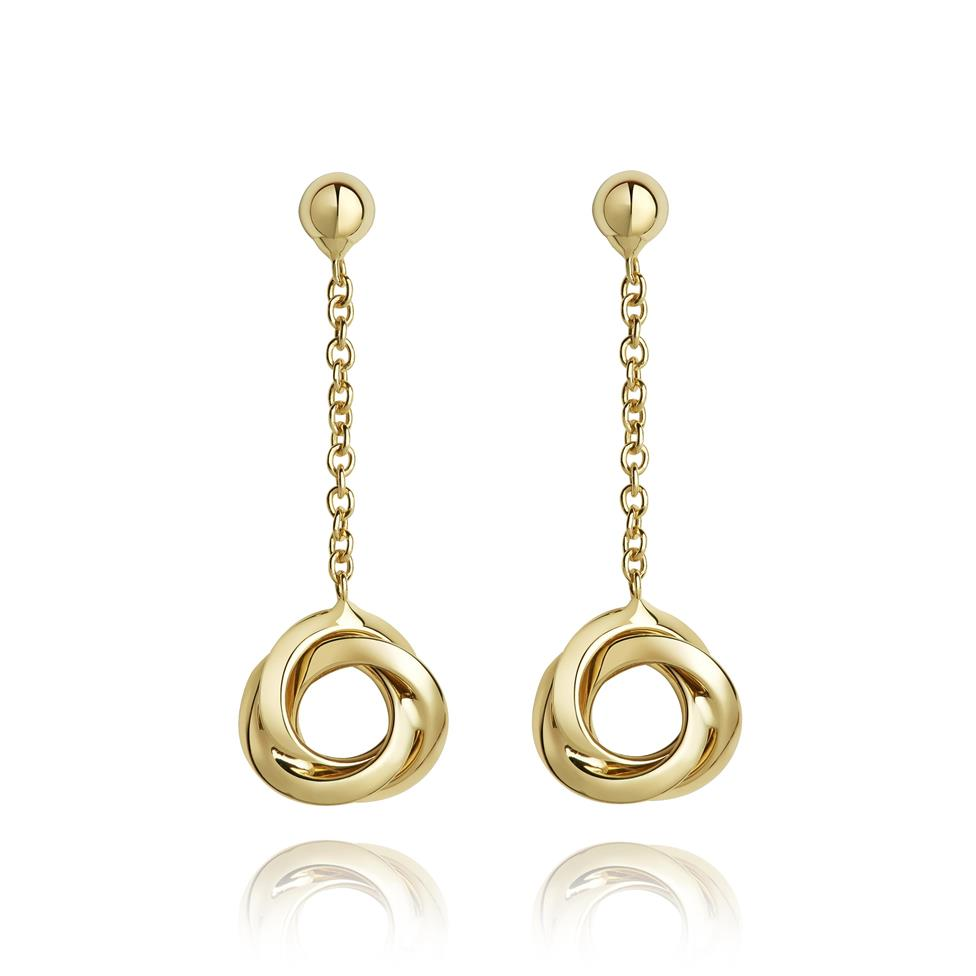 Eternal 18ct Yellow Gold Drop Earrings Image 1