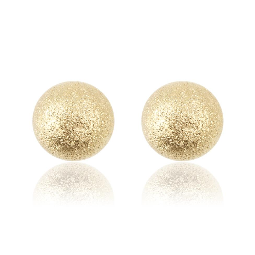 18ct Yellow Gold 5mm Shimmer Finish Ball Stud Earrings 6mm Thumbnail Image 0