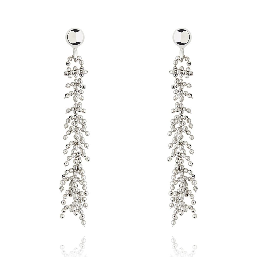 Willow 18ct White Gold Drop Earrings Image 1