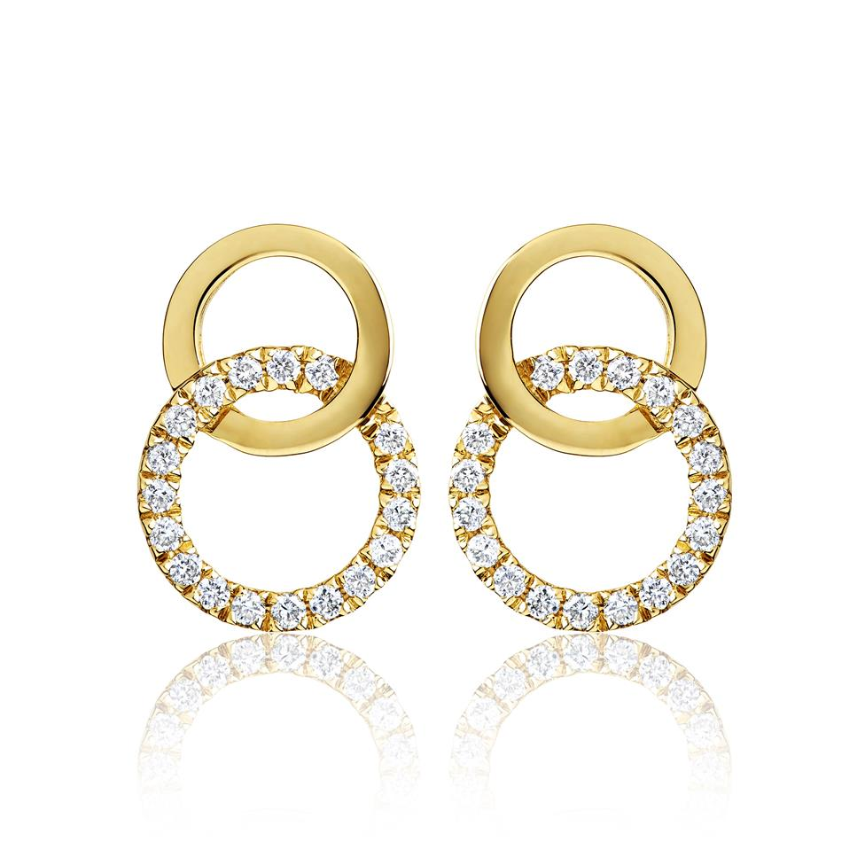 Union 18ct Yellow Gold Diamond Stud Earrings Thumbnail Image 0