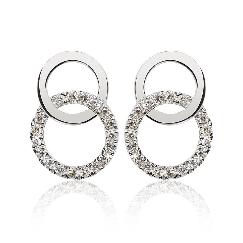 Union 18ct White Gold Diamond Stud Earrings Image 1