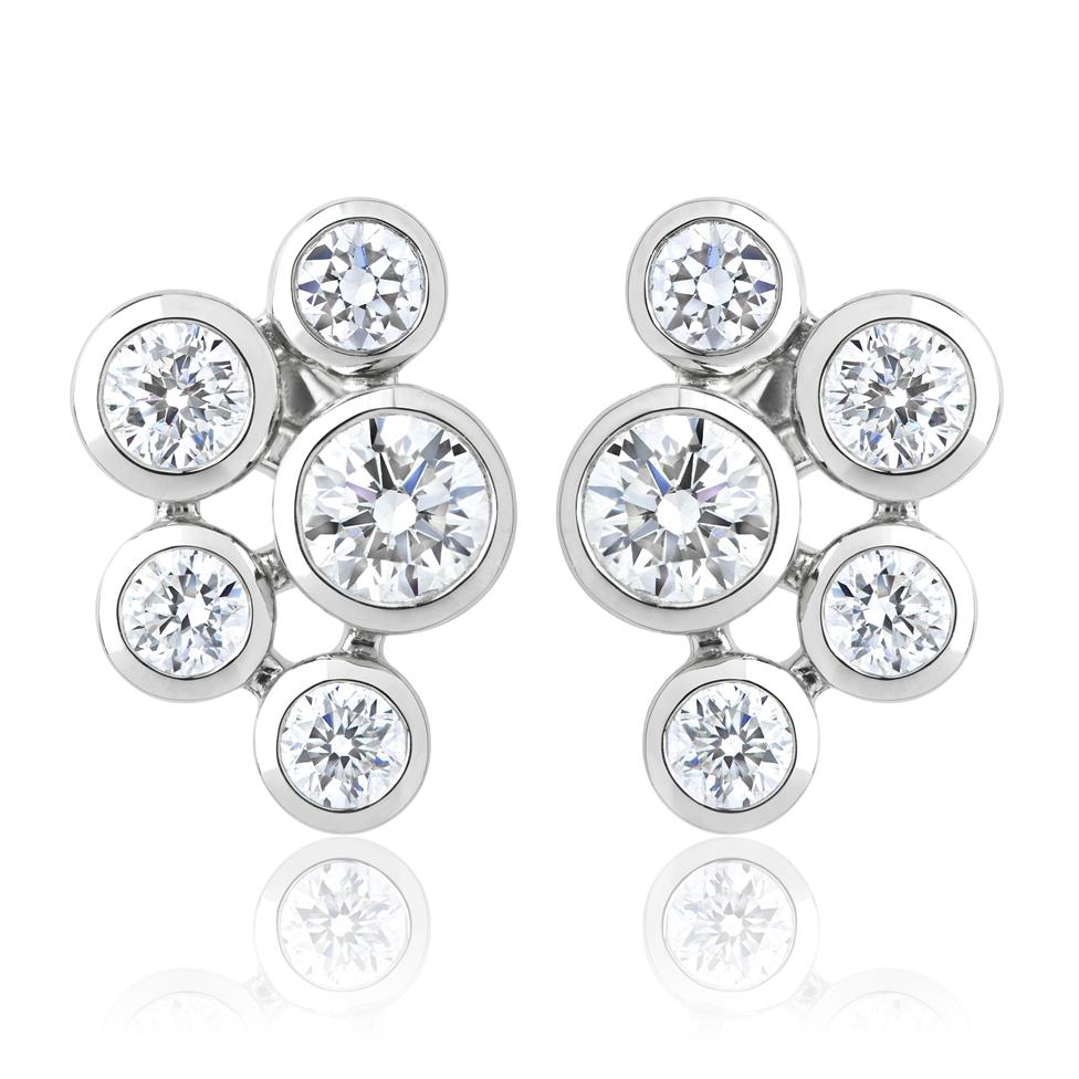 Alchemy 18ct White Gold Diamond Stud Earrings Thumbnail Image 0