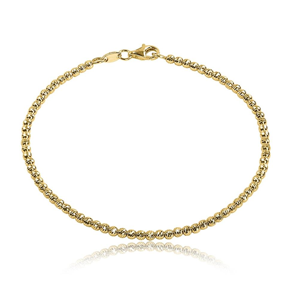 18ct Yellow Gold Faceted Bead Detail Bracelet  Thumbnail Image 0