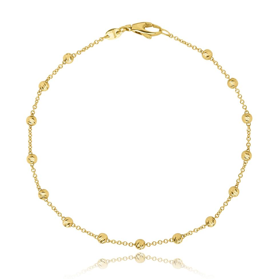 18ct Yellow Gold Diamond Cut Chain Bracelet Thumbnail Image 0