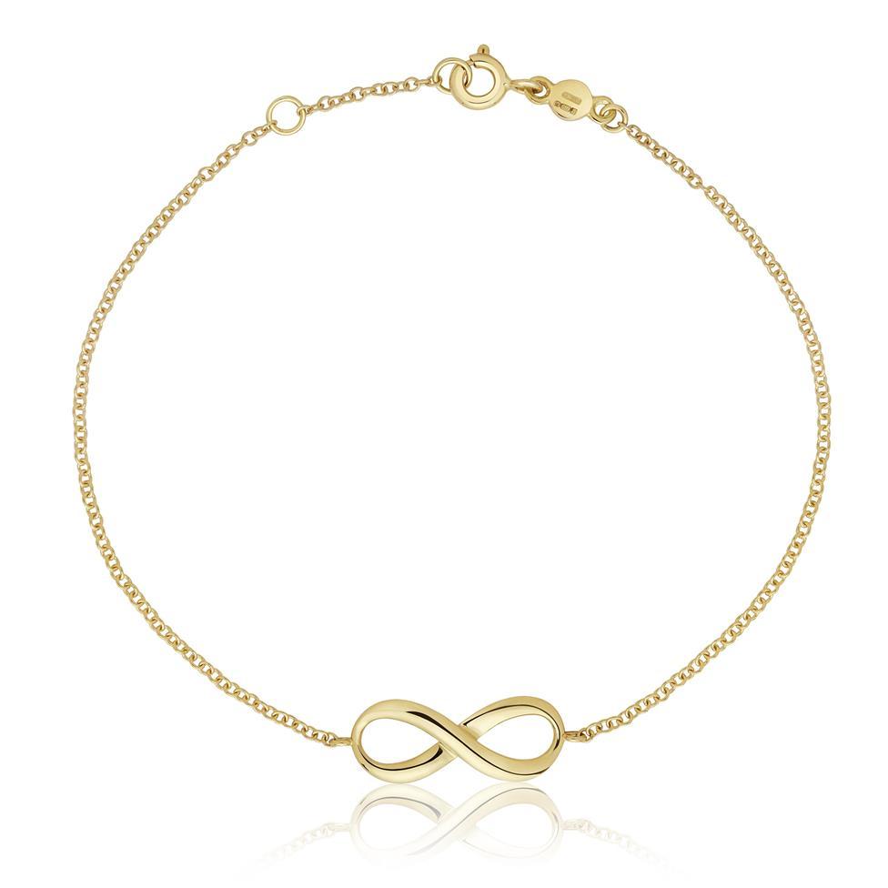 Infinity 18ct Yellow Gold Bracelet Thumbnail Image 0
