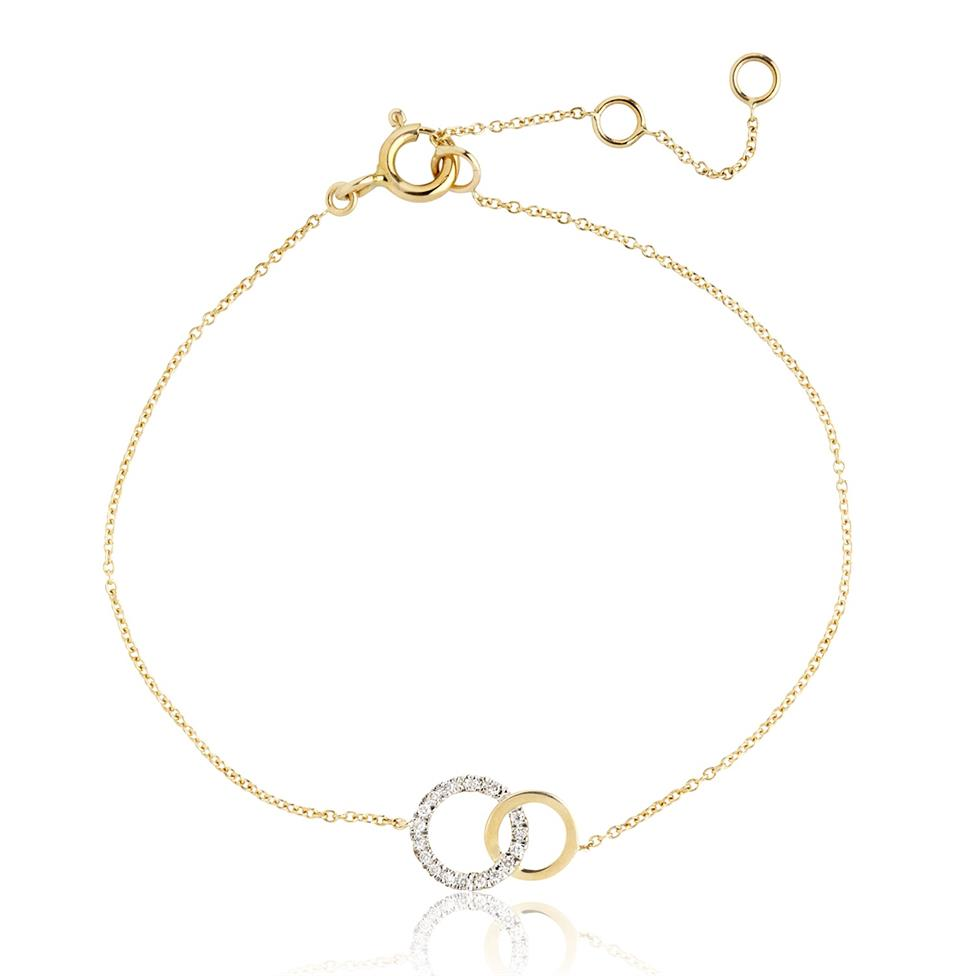 Union 18ct Yellow Gold Diamond Bracelet 0.07ct Thumbnail Image 0