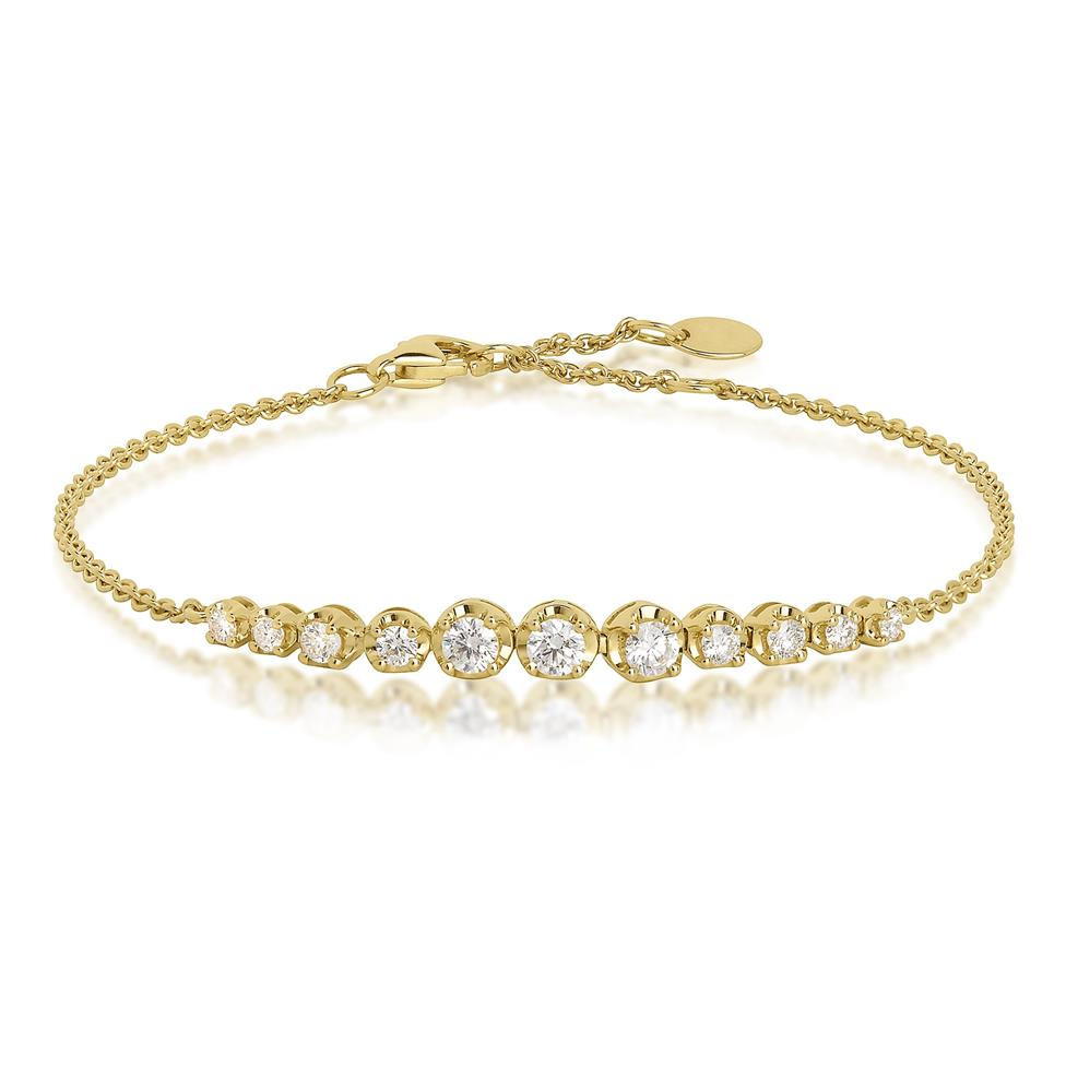 18ct Yellow Gold Diamond Bracelet 0.57ct Thumbnail Image 0