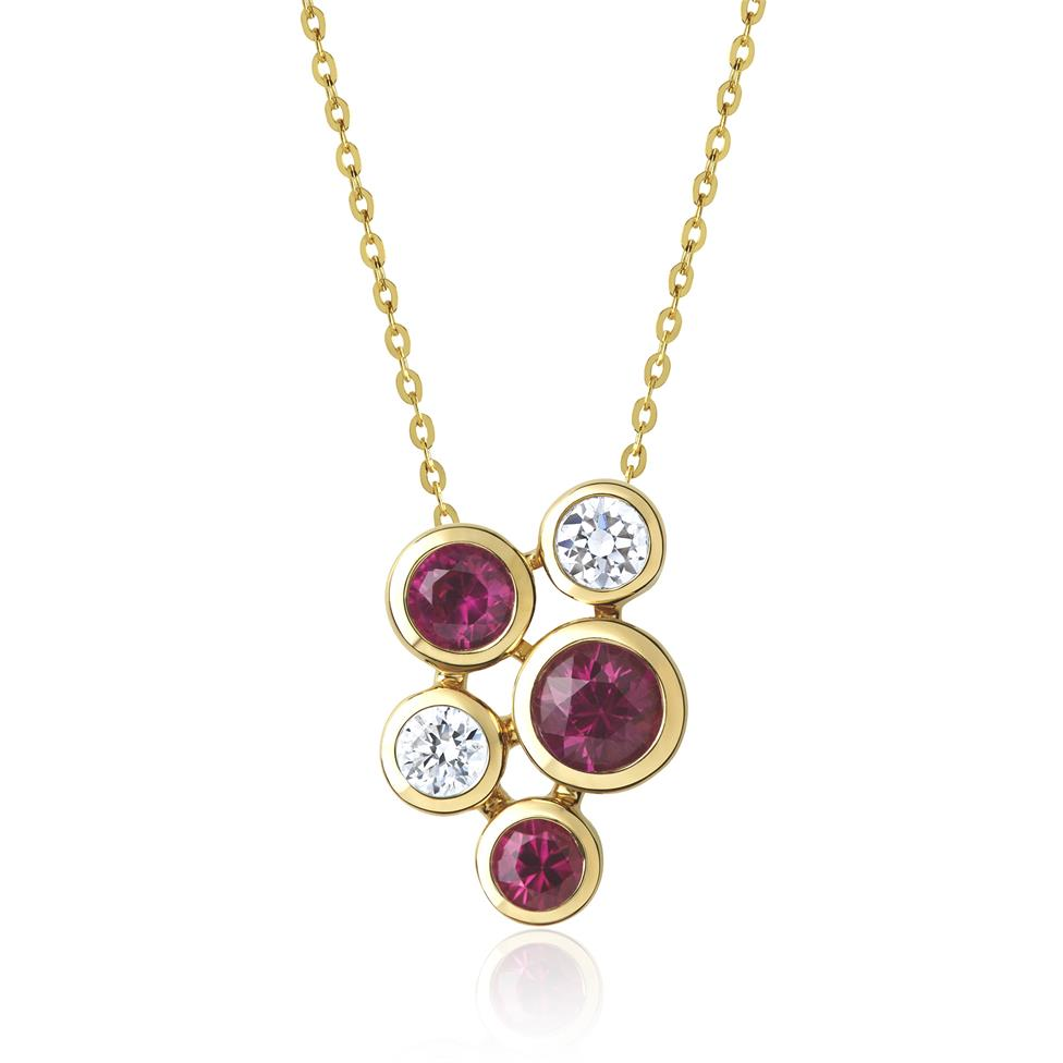 Alchemy 18ct Yellow Gold Ruby and Diamond Pendant Image 1