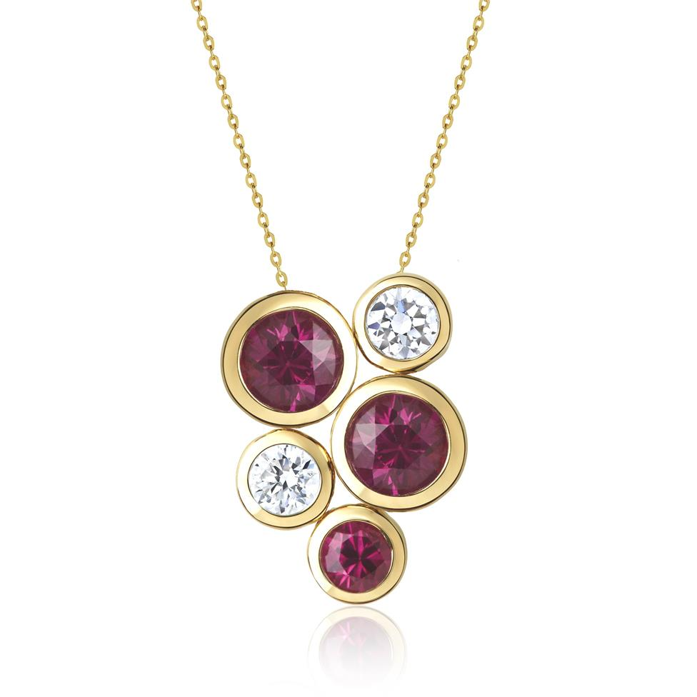 Alchemy 18ct Yellow Gold Ruby and Diamond Pendant Large Image 1