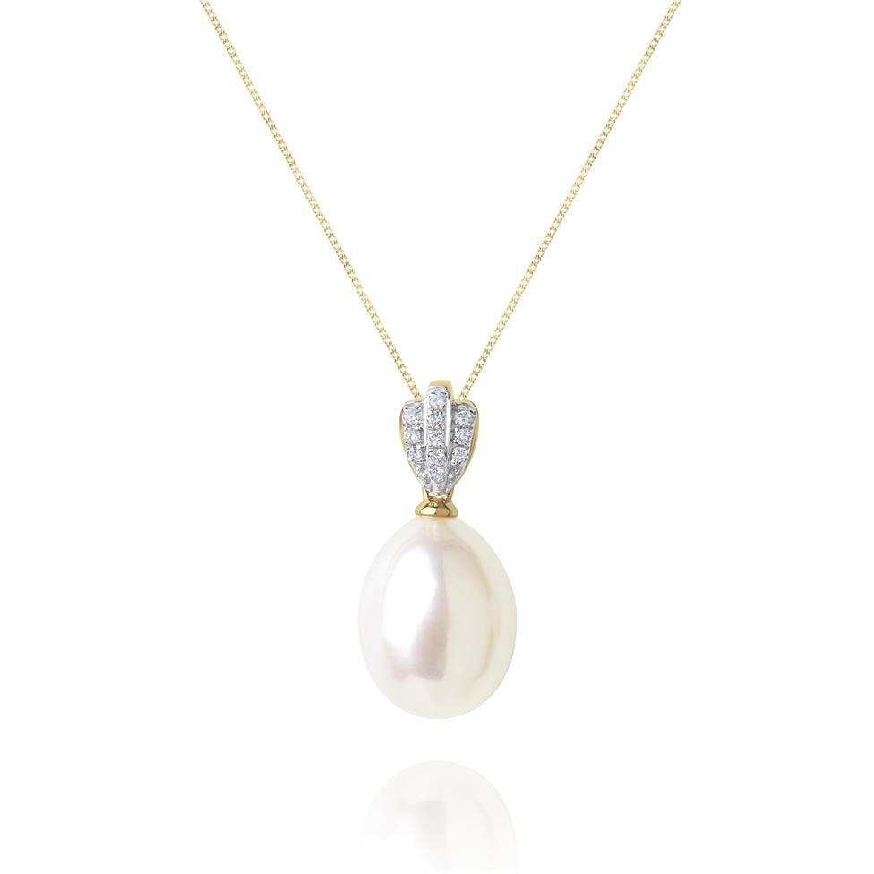 Clam 18ct Yellow Gold Pearl Pendant Image 1