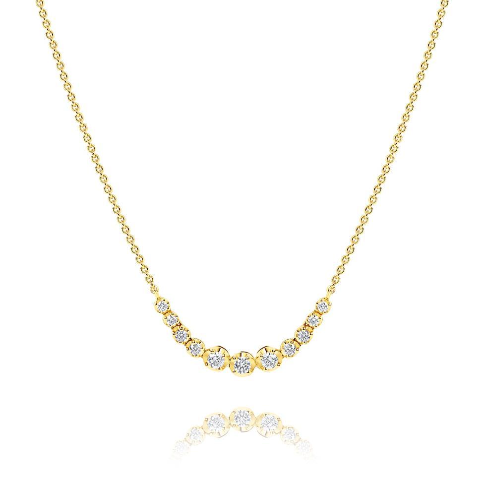 18ct Yellow Gold Diamond Necklace 0.55ct Thumbnail Image 0